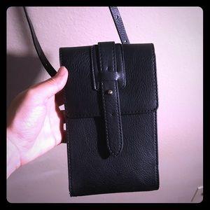 Anthropologie leather passport wallet